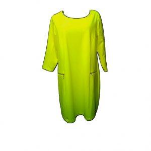 geltona-suknele-ilgesnemis-rankovemis