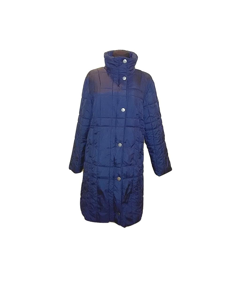 Moteriška ilga striukė tamsiai mėlyna, BF, 4 dydis