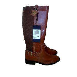 Moteriški ilgaauliai rudi odiniai ilgi batai, MO, 39 dydis