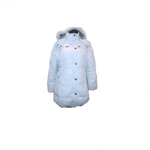 Balta pūkinė moteriška striukė, NORTH-ROUTE, 48 dydis