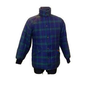 Vyriška languota tamsiai mėlyna striukė, PUFFA, S dydis