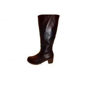 Juodi ilgaauliai odiniai moteriški batai, REMONTE, 37 dydis