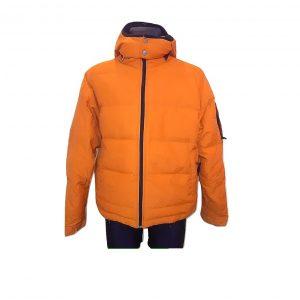 Oranžinė vyriška pūkinė striukė, SPIRIT, L dydis