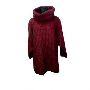 Moteriškas bordo megztinis plačiu kaklu, VOILA, 18 dydis