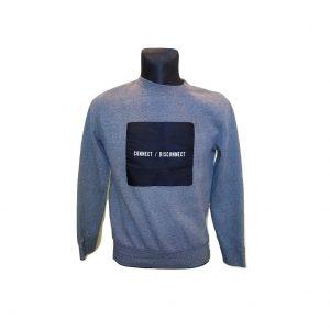 Vyriškas pilkas džemperis - Connect/Disconnect