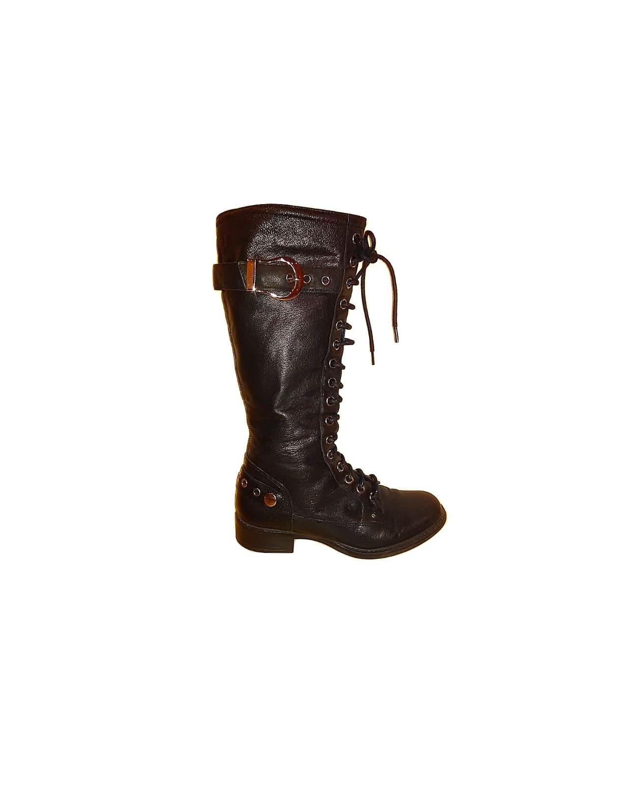 llgaauliai moteriški juodi batai su raišteliais, 37 dydis