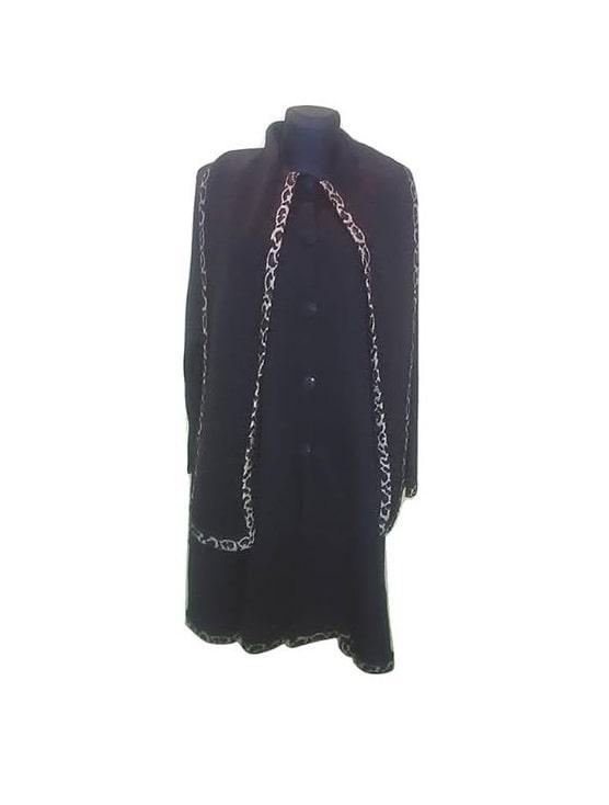 Juodas ilgas moteriškas paltas, SOLYNE, 42 dydis