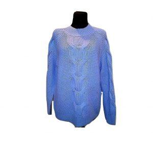 Melsvas moteriškas megztinis, MARRIE PHILIPPE, 40 dydis
