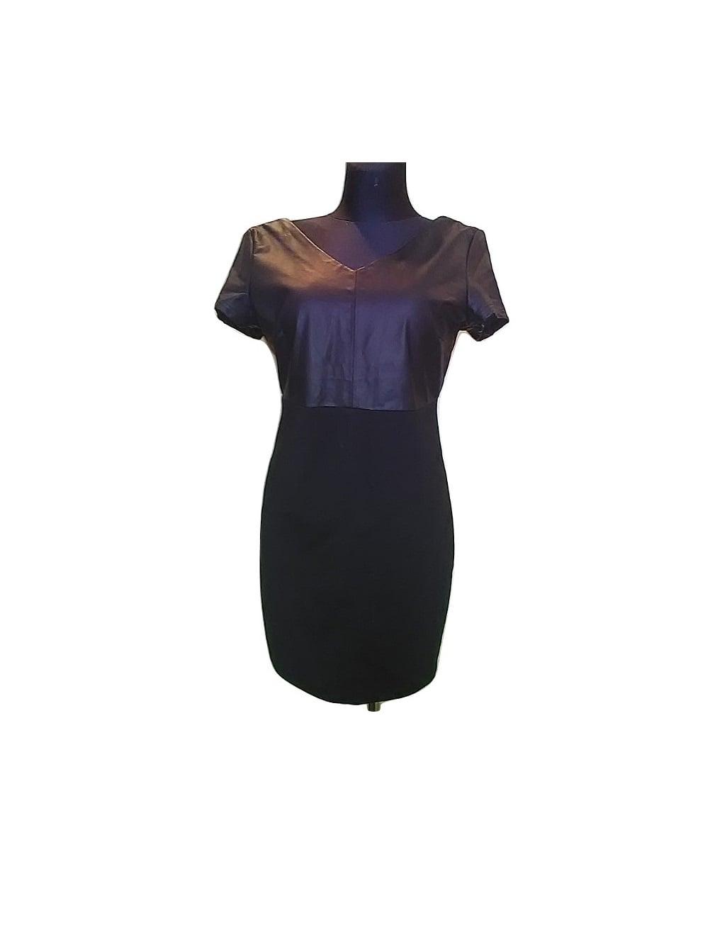 Moteriška juoda klasikinė suknelė trumpomis rankovėmis, SUL RIVER, M dydis
