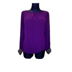 Moteriška lengva violetinė palaidinė ilgomis rankovėmis, DOROTHY PERKINS, 38 dydis
