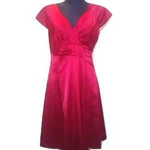 Moteriška raudona šilkinė suknelė, MARIE PHILIPE, L dydis