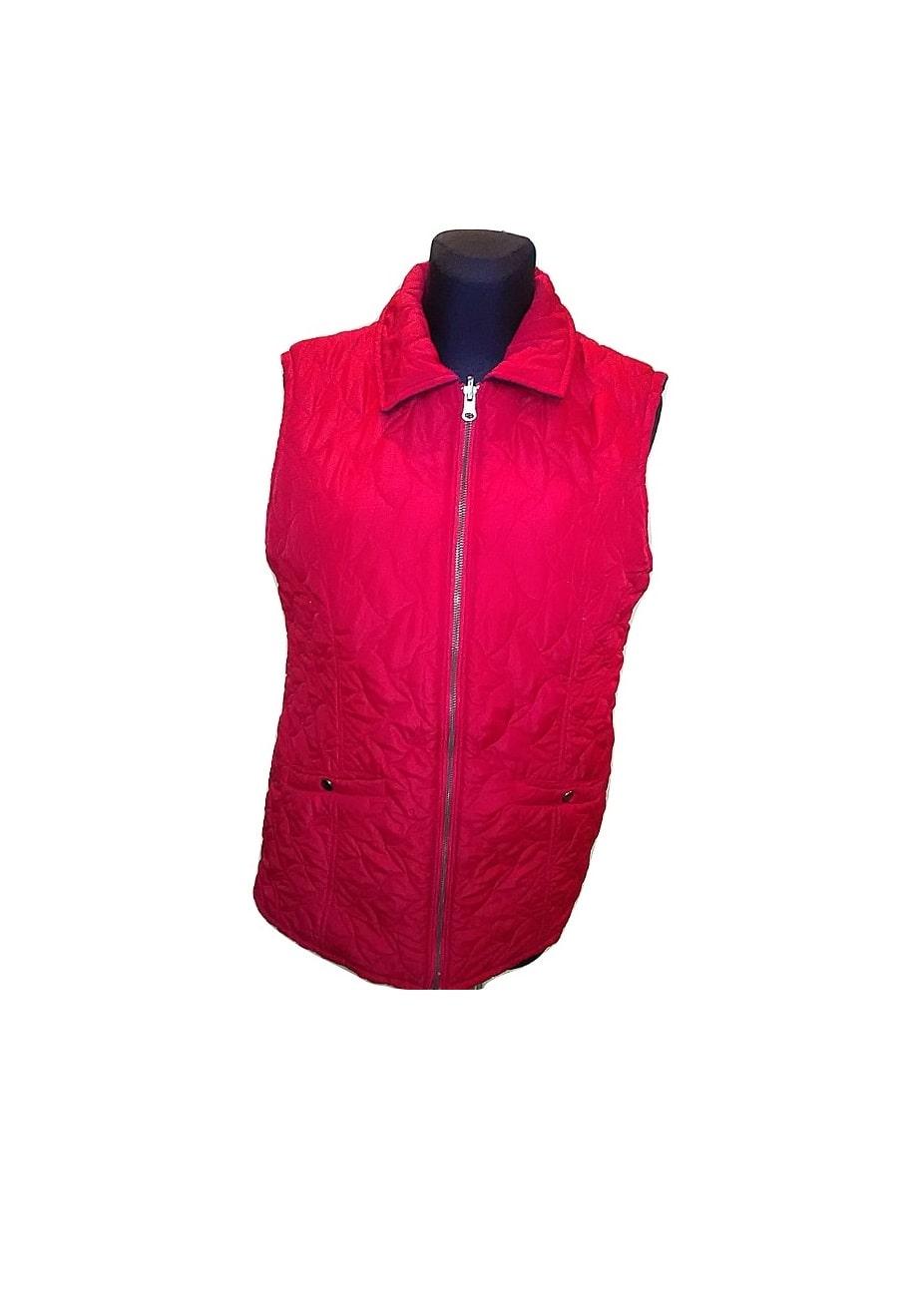 Moteriška raudona sportinė liemenė, 40 dydis