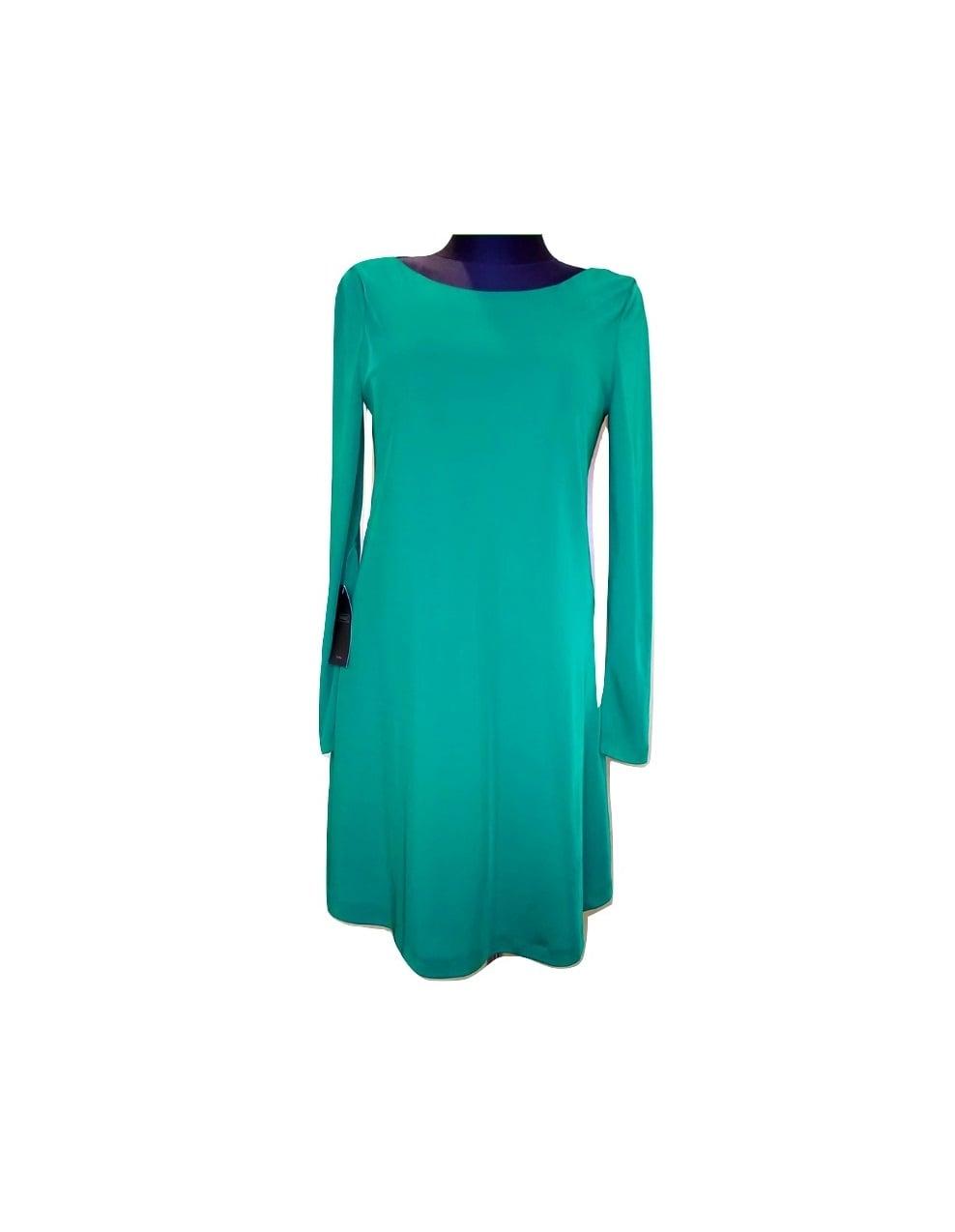 Moteriška žalia suknelė ilgomis rankovėmis, ZARA, M dydis