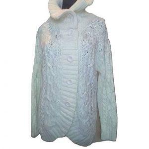 Moteriškas baltas megztinis ilgu kaklu, BIK BOK, S/M dydis