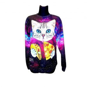 Moteriškas džemperis su katinu, XL dydis
