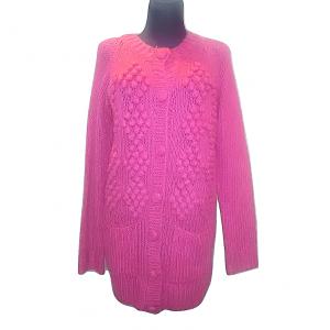 Moteriškas ilgas rožinis megztinis, H&M, S/M dydis