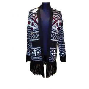 Moteriškas šiltas megztinis ilgomis rankovėmis, L dydis