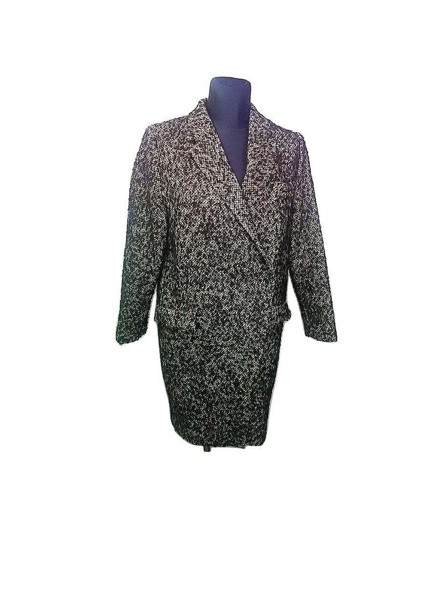 Moteriškas tamsiai pilkas paltukas, M dydis