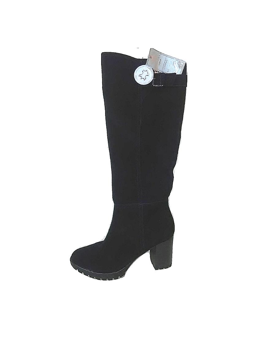 Moteriški ilgaauliai juodi batai, F&F, 39 dydis