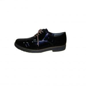Moteriški juodi lakiniai batai su raišteliais, GABOR, 39 dydis