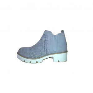 Moteriški pilki batai storu baltu kulnu, STREET SHOES, 41 dydis