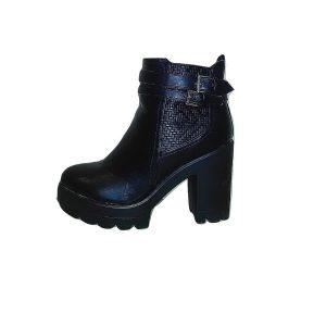 Moteriški rudeniniai juodi batai aukštu storu kulnu, 40 dydis