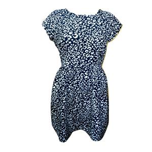 Juoda marga suknelė trumpomis rankovėmis, ZARA WOMAN, M dydis