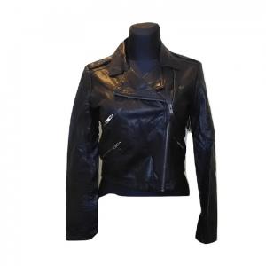 Moteriška juoda odinė striukė pavasariui, BIK BOK, S dydis