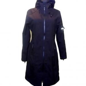 Moteriškas juodas ilgas paltukas, RAINCOAT, 38 dydis