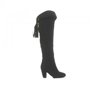 Moteriški ilgi zomšiniai juodi batai, 37 dydis