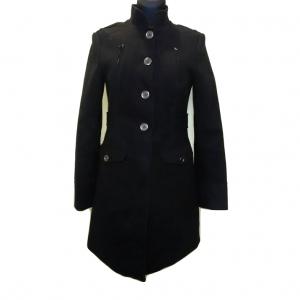 Juodas ilgas moteriškas paltukas, H&M, 38 dydis
