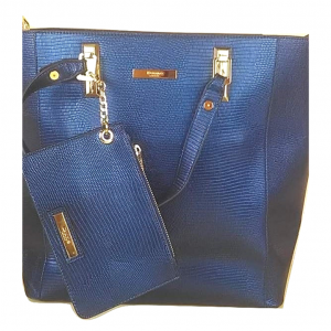 Mėlyna moteriška rankinė, x