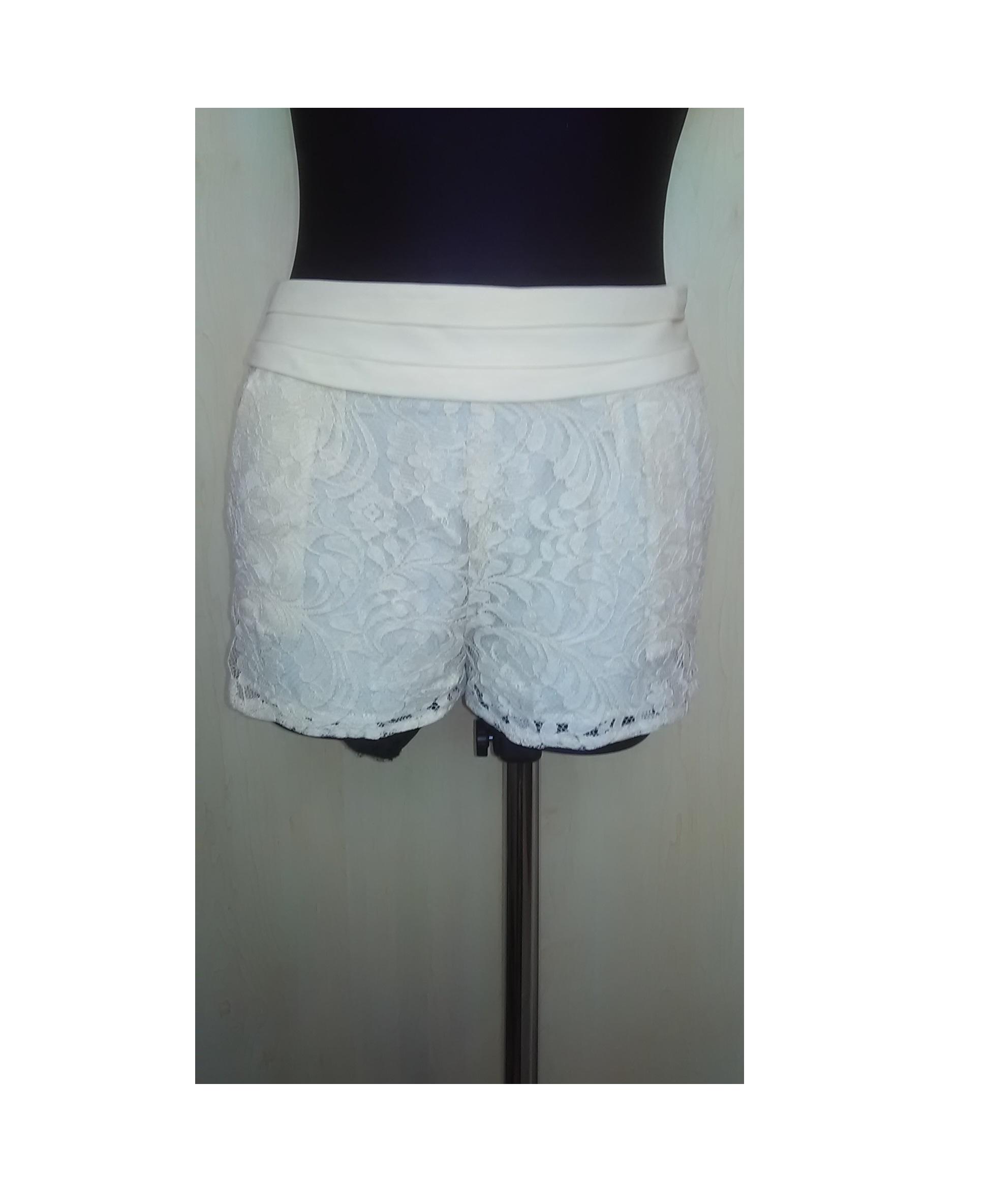 Balti moteriški šortukai su gifiūru, FOREVER 21, S dydis