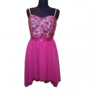 Vasarinė rožinė suknelė su blizgučiais, FLOYD BY SMITH, 14 dydis