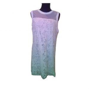 Balta vasarinė suknelė su tinkleliu, VRS, XL dydis