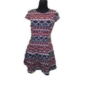 Vasarinė raudonai marga trumpa suknelė, DIVIDED, 34 dydis