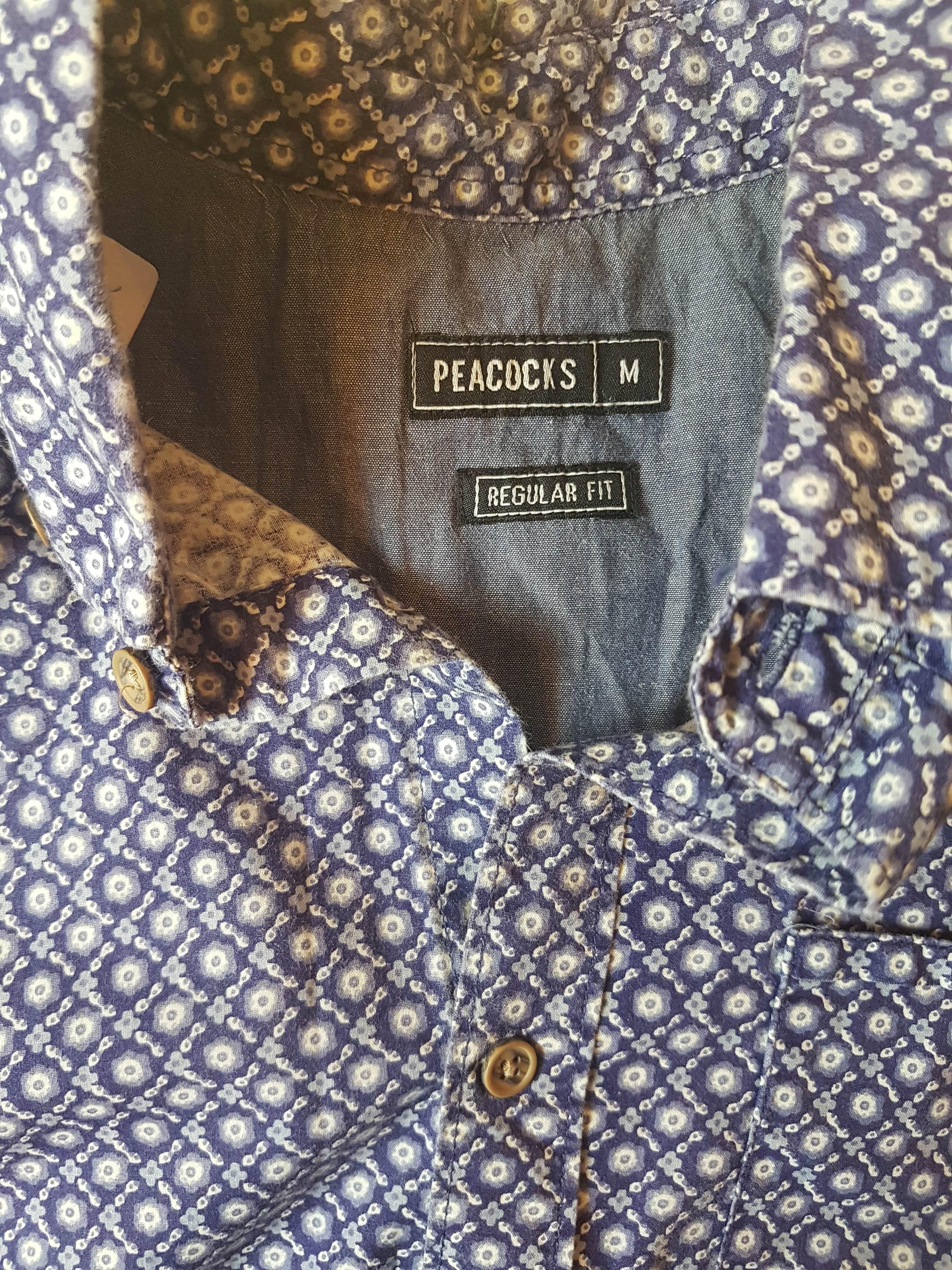 Vyriški vasariniai marškiniai, PEACOCKS, apykaklė