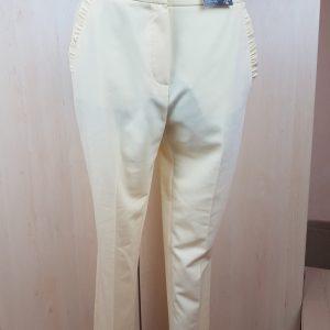 Moteriškos vasarinės gelsvos klasikinės kelnės, F&F, 40 dydis