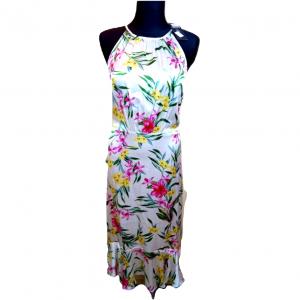 Nauja balta gėlėta ilga suknelė su petnešėlėmis M&S, 36 dydis