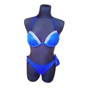 Dėvėtas mėlynas maudymosi kostimėlis, dydis-S/M.
