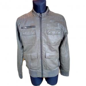 Vyriška pilka odinė striukė DIDVIDED, (H&M), L-dydis