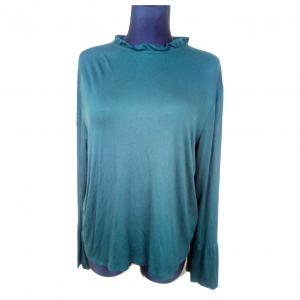 Tamsiai žalia moteriška palaidinė PEACOCKS, 46-dydis, tampri, ilgomis rankovėmis, rankovės ilgis-60cm.