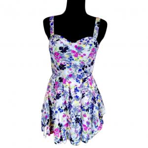 Šviesiai gėlėta su petnešėlėm suknelė TOPSHOP, 38-dydis, , 100% viscose