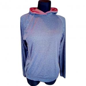 Pilkas moteriškas džemperis ilgomis rankovėmis su kapišonu, MOUTAIN WAREHAUSE, 42-dydis, kaina-5€