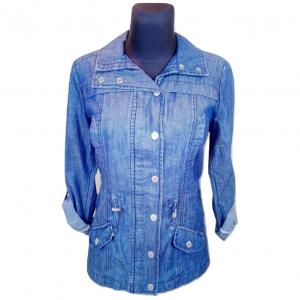 Moteriški ilgomis rankovėmis džinsiniai MAINE marškiniai, dydis40