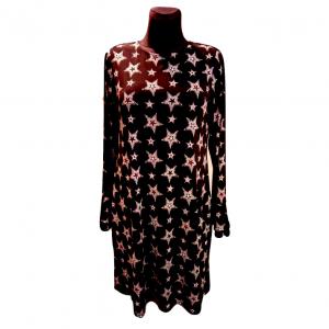 Ilgomis rankovėmis juodai marga suknelė, NEXT, dydis 40
