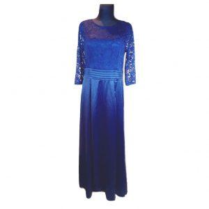 Ilga tamsiai mėlyna suknelė MJUSOL, dydis - XL.