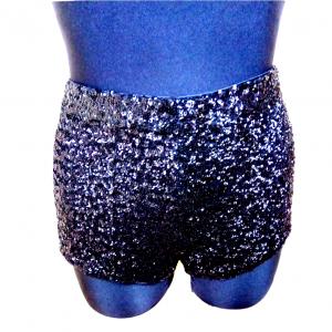 Moteriški juodi blizgūs tamprūs šortai NEW LOOK, dydis 42, sud:96%polyester, 4% elastane