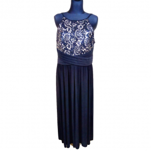 Ilga juoda su petnešėlėm suknelė R&M RICHARDS, dydis 16