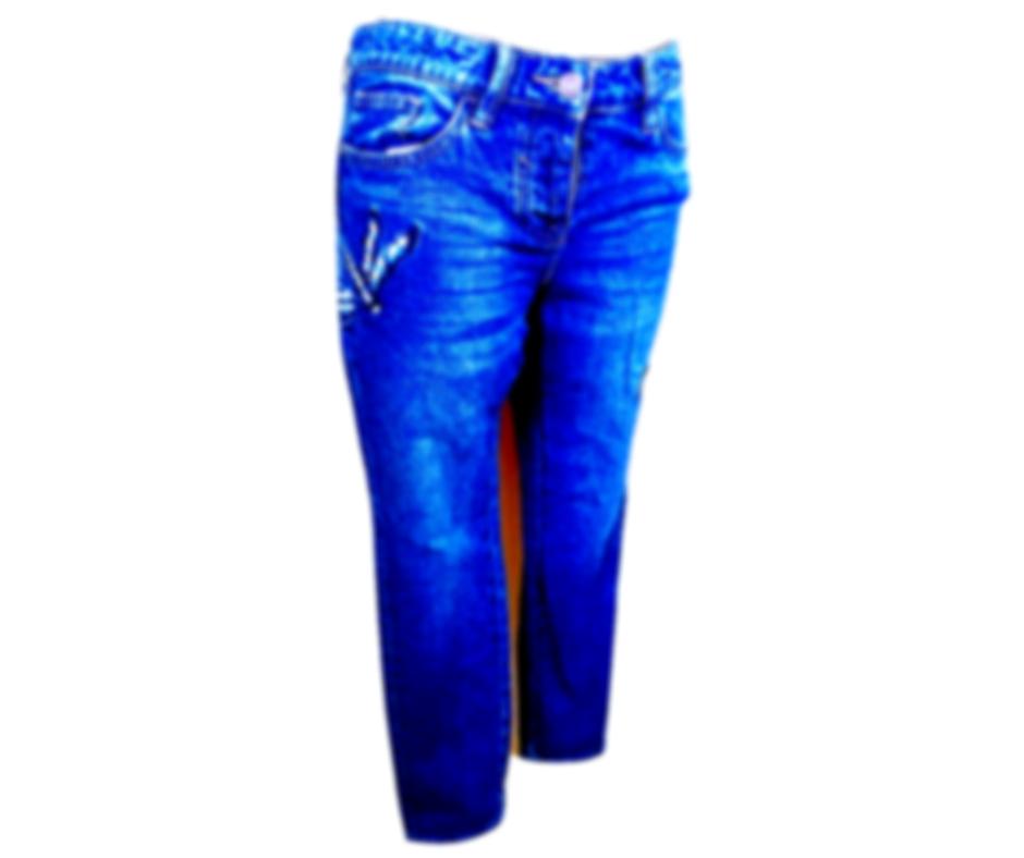 Moteriški mėlyni siuvinėti BOYFIT NEXT JEANS, dydis 34